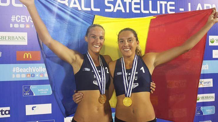 Volei pe plajă | Aur pentru Adriana Matei și Beata Vaida la CEV Beach Volleyball Satellite Larnaca