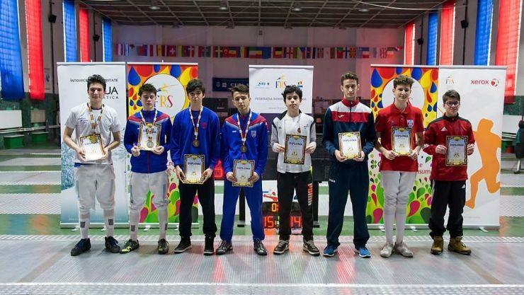 Silviu Roșu (CSA Steaua) a câștigat Campionatul Național de floretă cadeți în proba masculină la individual