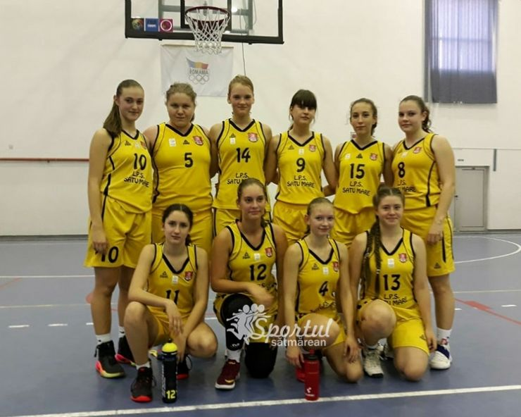 Baschet U16 | Rezultate excelente pentru fetele de la LPS CSS Satu Mare, la primul turneu al Campionatului Național