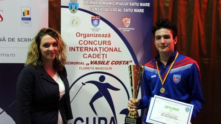 "Silviu Roșu (CSA Steaua) a câștigat Cupa Satu Mare – Memorial ""Vasile Costa"" la floretă masculin individual"