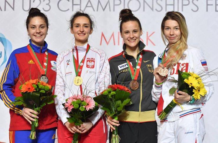 Argint pentru sătmăreanca Amalia Tătăran la Campionatul European de scrimă pentru tineret