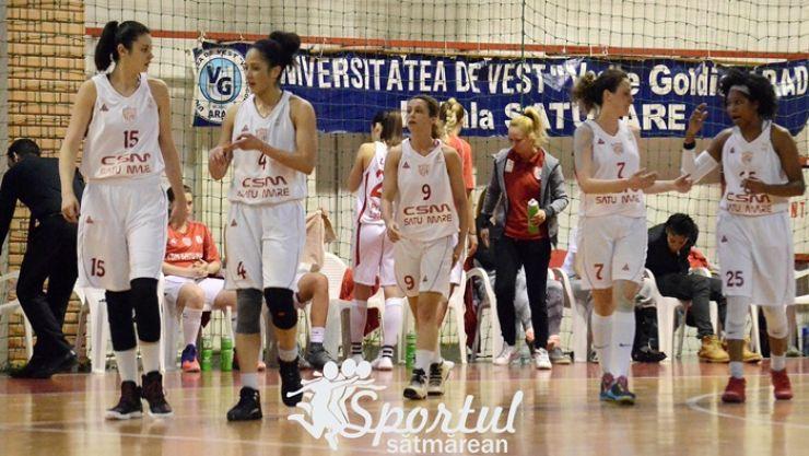 Baschet | CSM Satu Mare a suferit a treia înfrângere consecutivă pe teren propriu