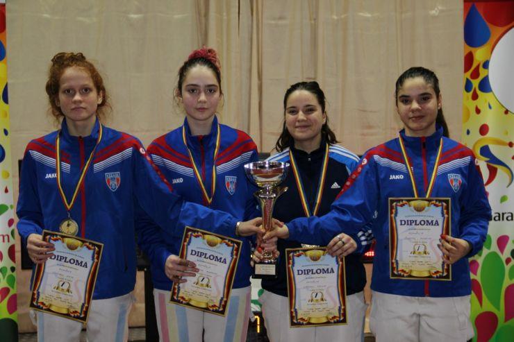 România a câștigat ediția a VIII-a a Cupei Satu Mare la floretă feminin echipe