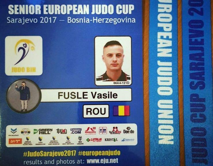 Vasile Fușle, la Cupa Europeană de Judo din Sarajevo