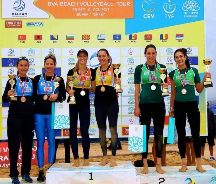 Volei pe plajă | Adriana Matei și Beata Vaida au câștigat primul titlu balcanic la senioare