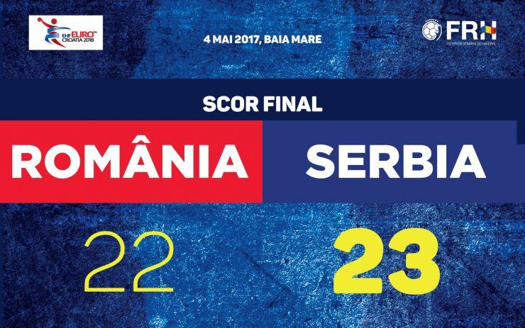Handbal | România a pierdut în ultima secundă meciul cu Serbia din preliminariile EURO 2018