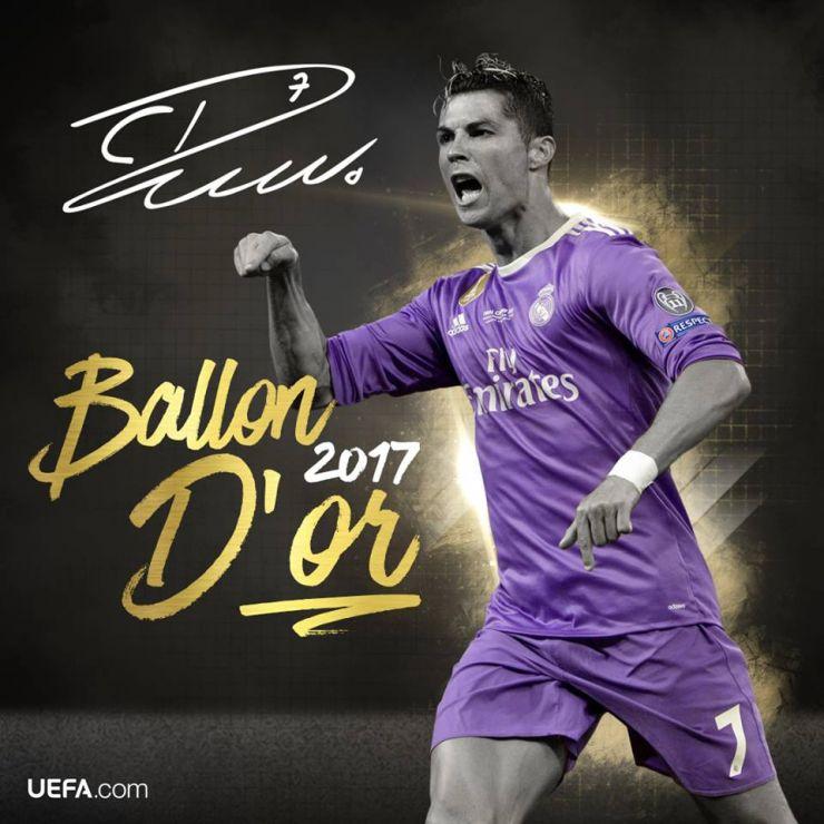 Cristiano Ronaldo a câştigat pentru a cincea oară Balonul de Aur