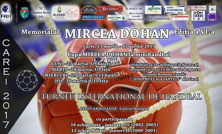 "Memorialul ""Mircea Dohan"" la handbal feminin și masculin, ediția a VI-a"