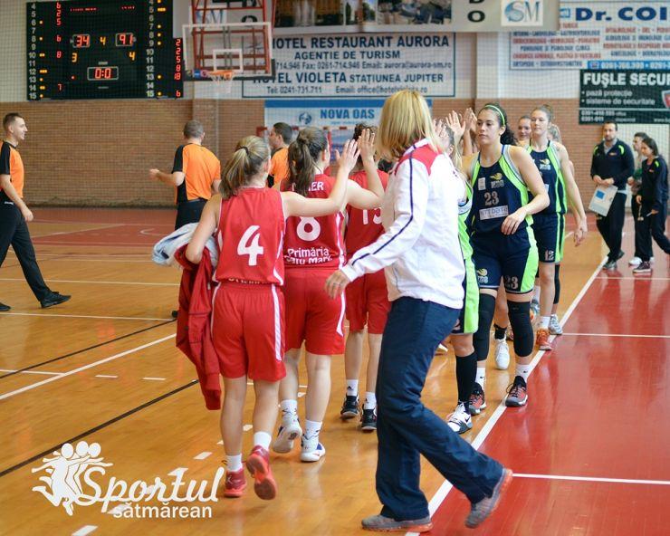 Baschet | CSM 2 Satu Mare a suferit a treia înfrângere consecutivă în Liga 1 de baschet feminin