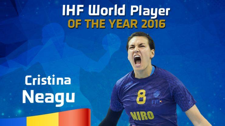 Handbal | Cristina Neagu, cea mai bună handbalistă din lume, pentru a treia oară în carieră