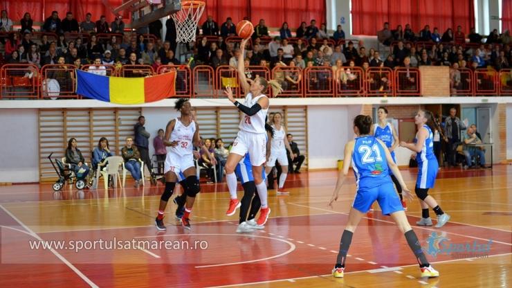 Baschet | Victorie pentru CSM Satu Mare, în primul meci cu Olimpia CSU Brașov