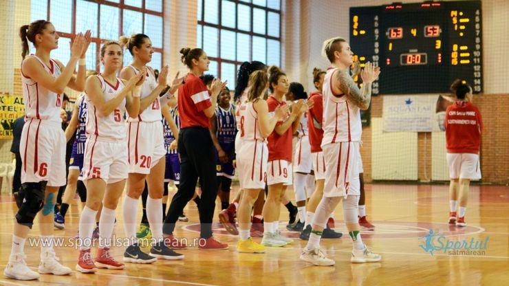 Baschet feminin | CSM Satu Mare a câștigat meciul decisiv cu Timișoara și s-a calificat în semifinale