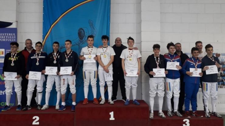 Spadă | CS Satu Mare, locul 4 la Campionatul Național de spadă cadeți și juniori
