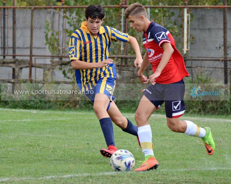 Juniori | Victorii pentru Primavera și LPS Satu Mare în Liga Nord Vest U16