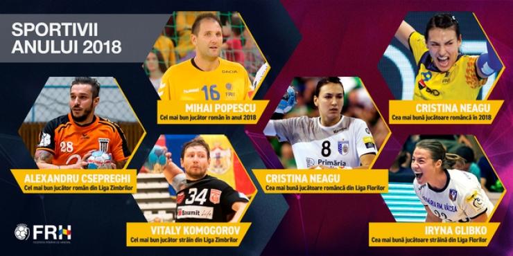 Handbal | Cristina Neagu şi Mihai Popescu, cei mai buni handbalişti români în anul 2018