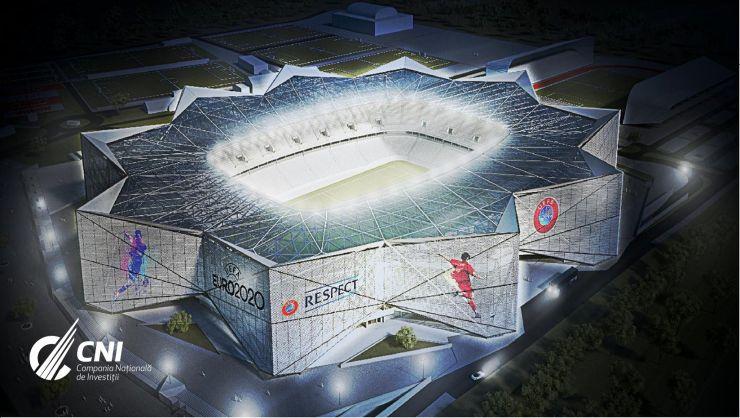 Euro 2020 | Primele imagini cu machetele stadioanelor Steaua, Arcul de Triumf şi Rapid