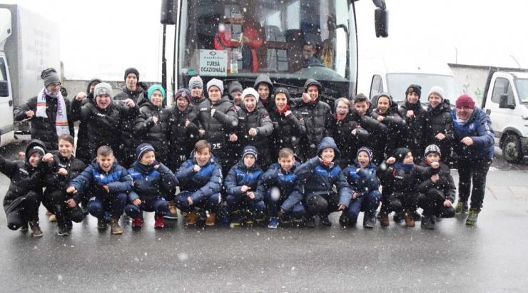 Puștii de la Juniorul și LPS au jucat meciuri amicale cu CFR Cluj