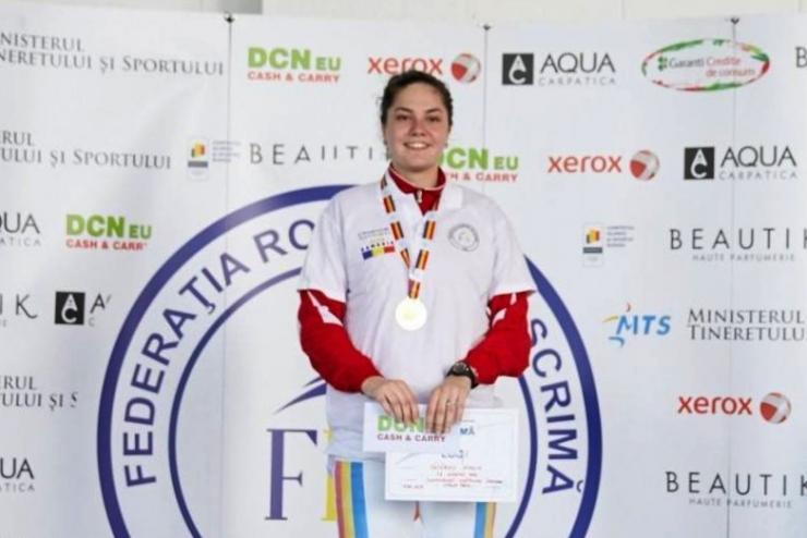 Sătmăreanca Amalia Tătăran a câștigat titlul național la spadă feminin-individual