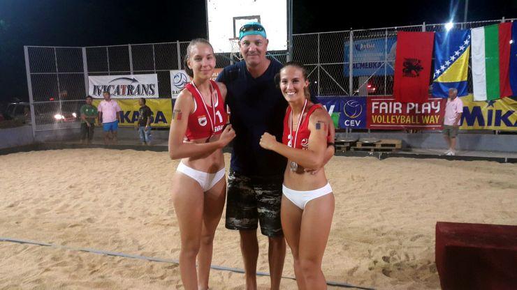 Volei pe plajă | Beata Vaida a câștigat medalia de argint la Campionatul Balcanic U22