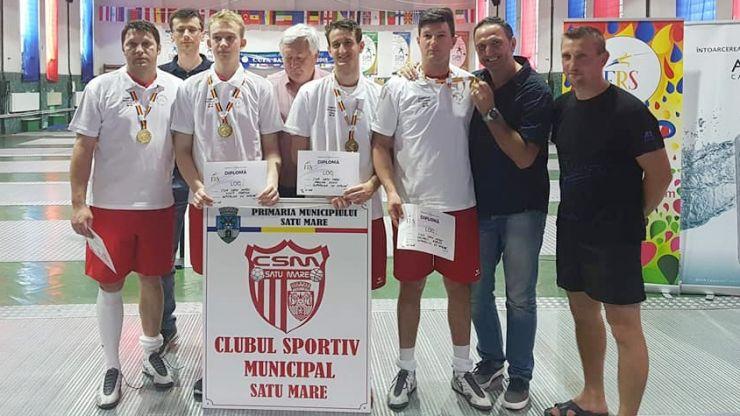 CSM Satu Mare a câștigat Campionatul Național de spadă seniori masculin