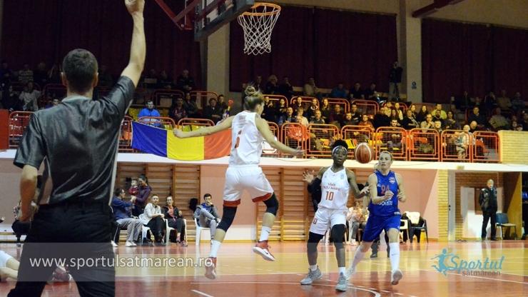 Baschet | CSM Satu Mare a învins pentru prima dată pe teren propriu CSM Târgoviște